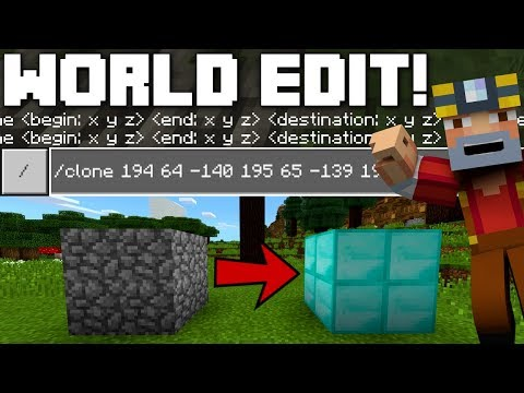 How To Use World Edit on Minecraft Better Together! (Xbox One)