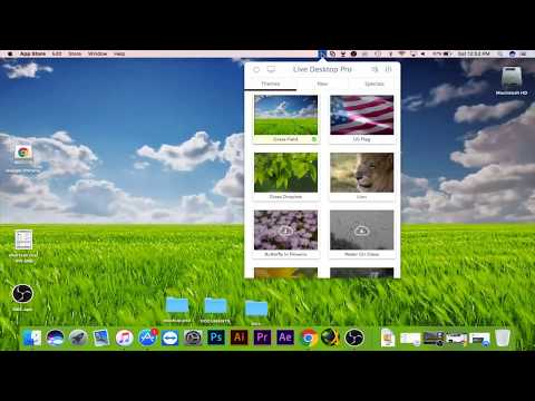Set Live Wallpapers & Animated Desktop Backgrounds in MAC OS