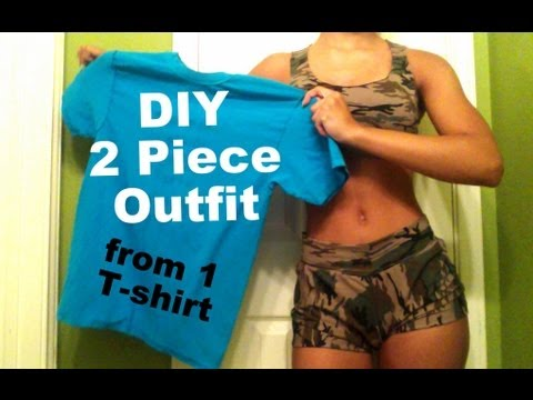 DIY| T-shirt Reconstruction: Two Piece Matching Outfit