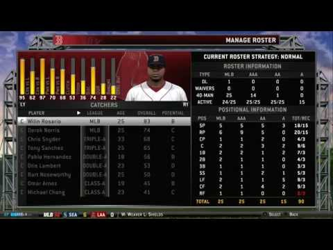 MLB 14: The Show Updated Fantasy Draft Roster