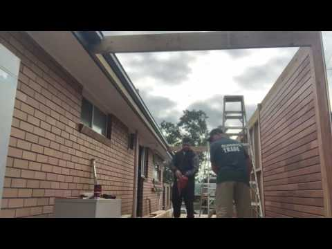 How to build a hip roofed veranda pergola in a day