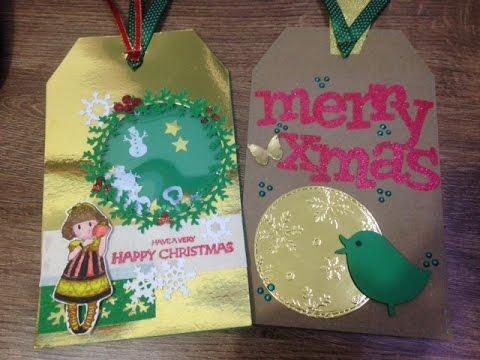 Tutorial: shaker tags navideños / Scrapbook DIY