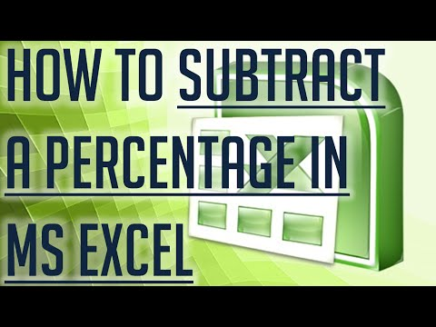 [Free Excel Tutorial] HOW TO SUBTRACT A PERCENTAGE IN MICROSOFT EXCEL -  Full HD