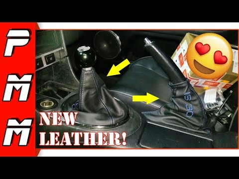Looks so good! Installing IS300 Shifter and Handbrake leather boots!