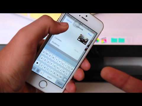 How to Upload Videos from iPhone to Facebook on iOS 8