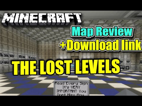 MINECRAFT - PS3 - THE LOST LEVELS ADVENTURE MAP REVIEW + DOWNLOAD LINK ( PS4 )  SERVER UPDATE