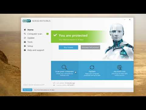ESET NOD32 Antivirus -  How To Temporarily DIsable Protection