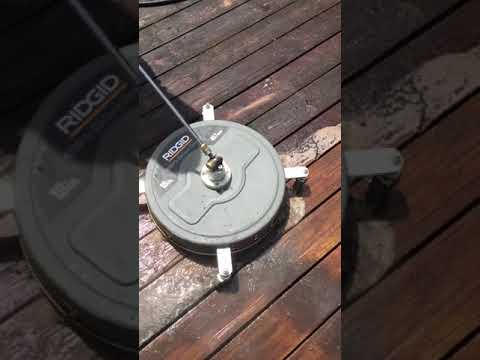 Surface cleaning on a deck with my new Ridgid