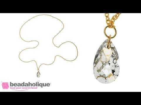 How to Make a Quick and Easy Long Pendant Necklace for Layering Necklaces