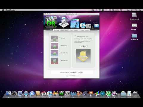 Changing the color of your dock in Mac OS X