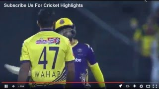 Real Fight of Wahab Riaz with Ahmad Shahzad | Hitting Bat | PSL 2016 Peshawar Zalmi