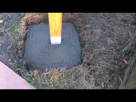How to Install an LED Security Light (post & concrete)