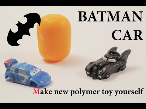 DIY super mini clay batmobile Polymer clay tutorial