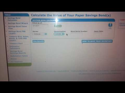 Treasury direct calculation on your birth certificate bond