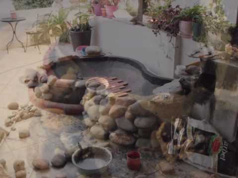 SMALL KOI POND DESIGN AND CONSTRUCTION ON THE OUR TERRACE.