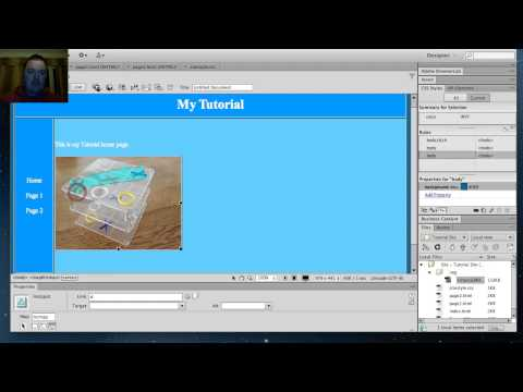 Simple Dreamweaver CS6 Tutorial 5- Linking external CSS style sheets and using image maps
