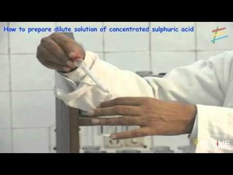 How to prepare dilute solution of concentrated sulphuric acid