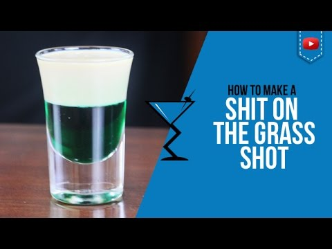 Shit on the Grass Shot - How to make a Shit on the Grass shot Recipe by Drink Lab (Popular)