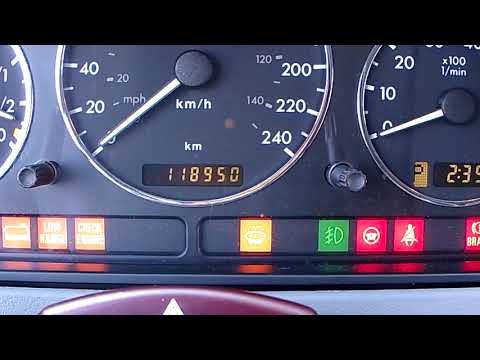 Mercedes W163   all years   oil level check from dashboard