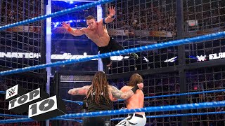 Craziest Elimination Chamber Leaps Wwe Top 10 Feb 17 2018