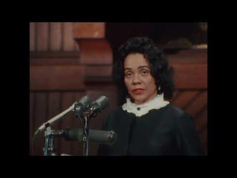 Coretta Scott King speaks at Harvard's Class Day in 1968