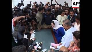 Benazir Bhutto comment on Nawaz Sharif return