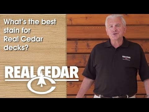 FAQ : What's The Best Stain For Real Cedar Decks? - Realcedar.com