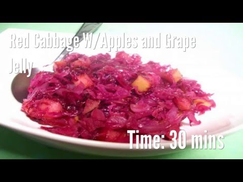 Red Cabbage W/Apples and Grape Jelly Recipe