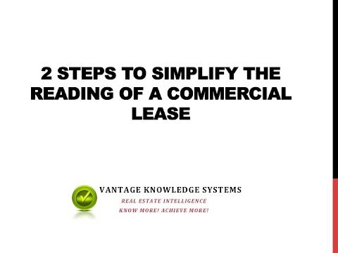 Read a Commercial Lease Easily