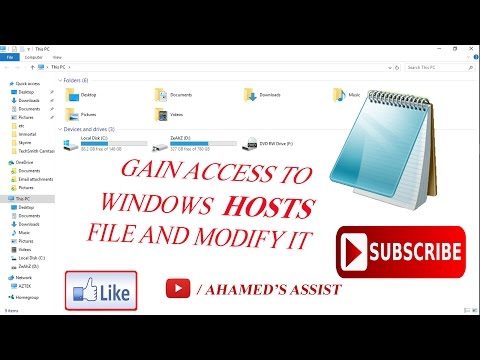 **Gain access to Microsoft HOSTS file for Windows 10/bypass to get full control**