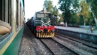 Pakistan Railways:46dn Pakistan Express crossing Lodhran Junction