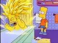 Homer Goes Super Saiyan 3 After Bart Hits Him With A Chair