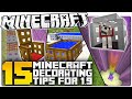 15 Minecraft 1.9 Decorating Secrets You NEED TO USE! (Minecraft Custom Builds)