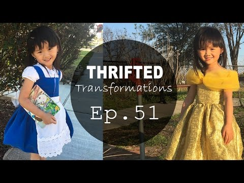 DIY 2-in-1 Belle Costume | Thrifted Transformations Ep. 51