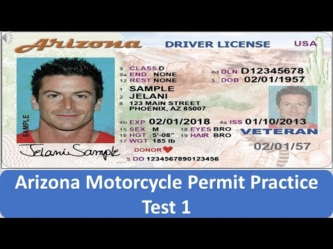 Arizona Motorcycle Permit Practice Test 1