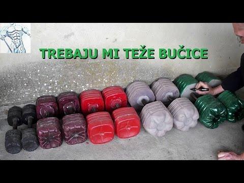 Kako napraviti jednorucne tegove - bucice ( diy heavy weights - dumbbells )