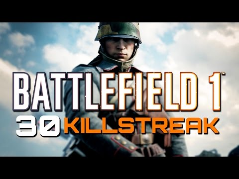 Battlefield 1: 30 Killstreak with Support on Amiens (PS4 PRO Multiplayer Gameplay)