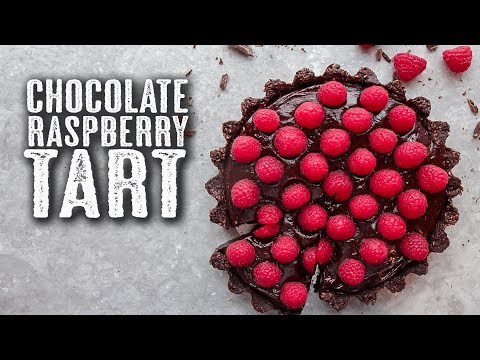 Chocolate & Raspberry Tart | Natural Ingredients + Vegan - Topless Baker