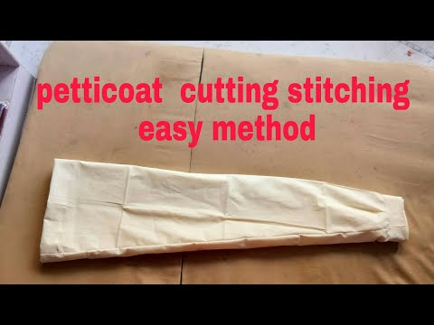 DIY How to cut and stitch any size.. petticoat easy tutorial perfect method