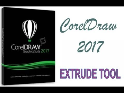 COREL DRAW 2017 USING EXTRUDE TOOL HINDI URDU PART 36