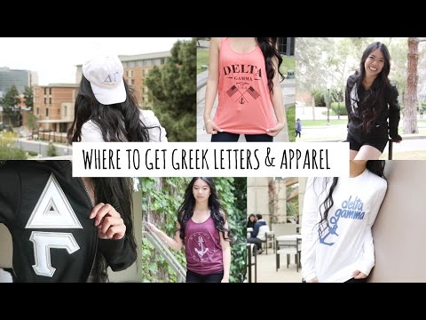 Sorority Letter & Apparel from Greek Life Threads!