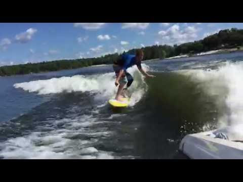 How to Wakesurf behind ski boat