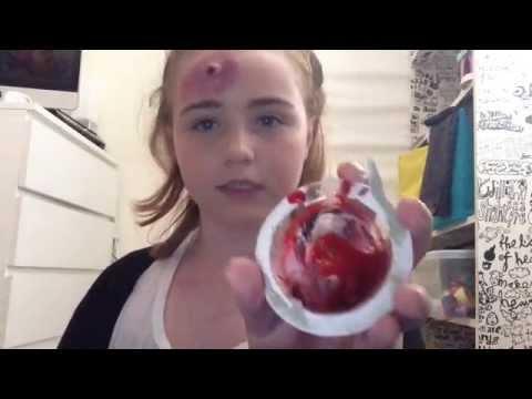 Bruising bullet wound make-up tutorial :/