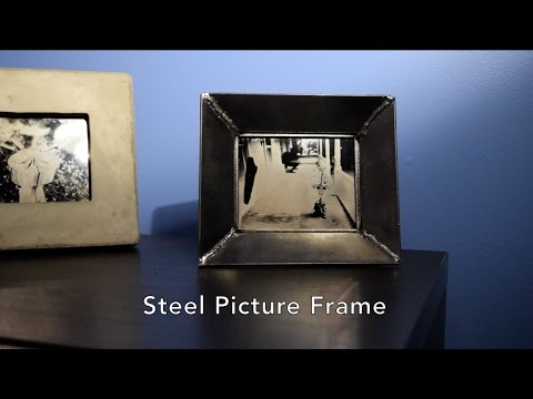 Making a welded steel picture frame