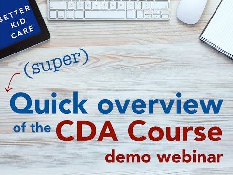 (Super) Quick Overview of the CDA Course Demo Webinar