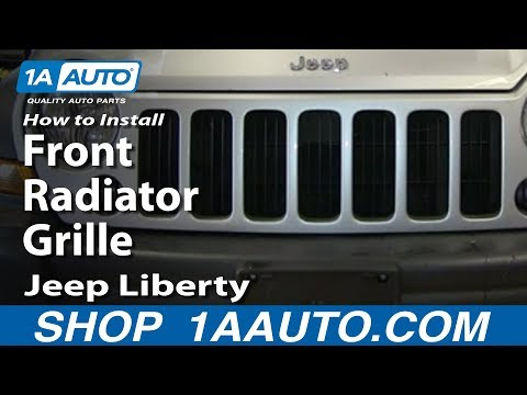 How To Install Replace Front Radiator Grille 2005-07 Jeep Liberty