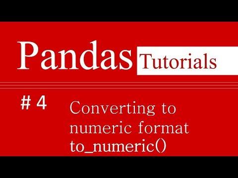 Pandas Tutorials # 4 : How to convert attribute into numeric form in Pandas