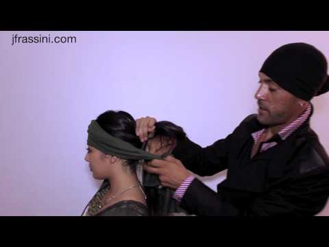 How to tie a bandana - Wear your designer JFrassini Head Wrap with style