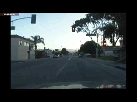 An Early Morning Drive on Ventura Avenue. Ventura CA.