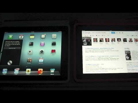 iPad 3 with SIRI vs. Google Voice Search on iPad 2